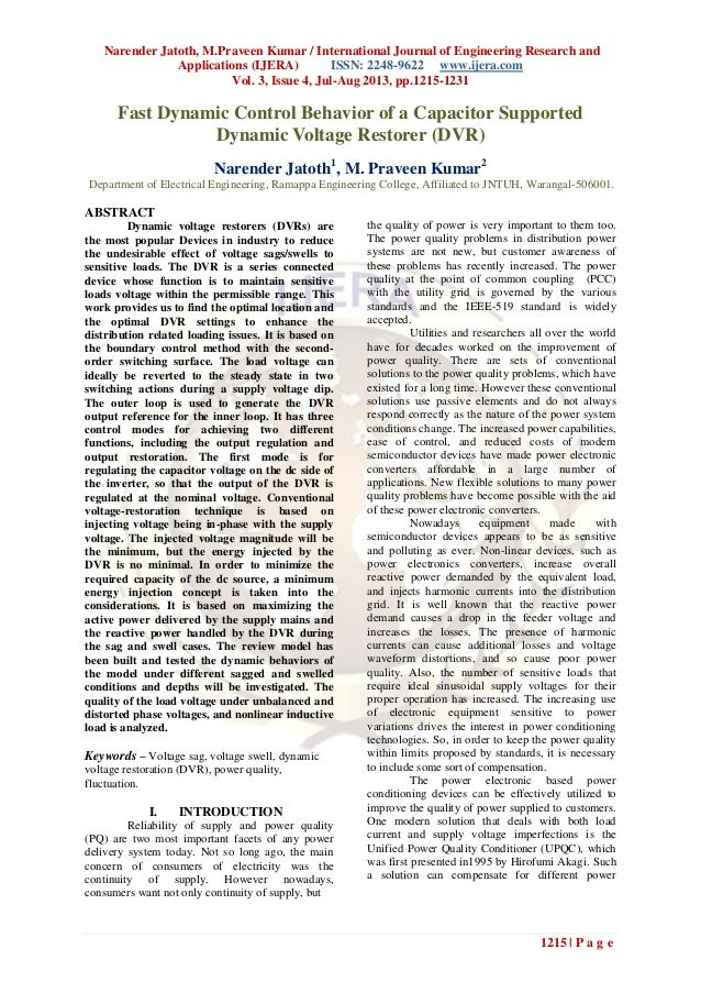 Narender Jatoth, M.Praveen Kumar / International Journal of Engineering Research and Applications (IJERA) ISSN: 2248-9622 ...