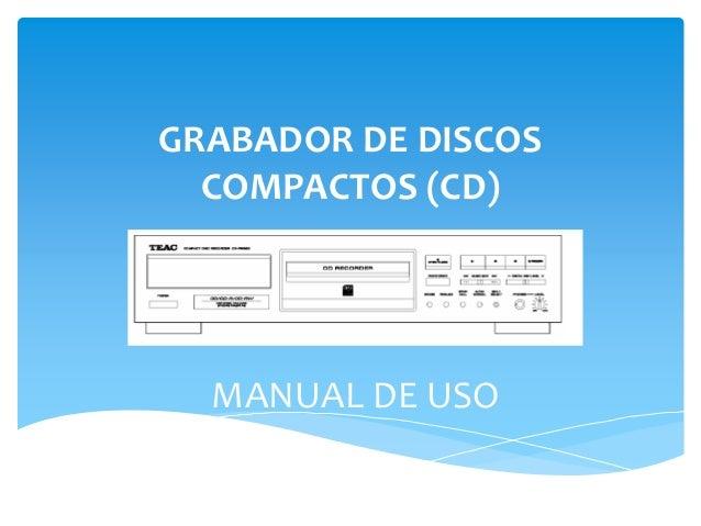 grabador discos: