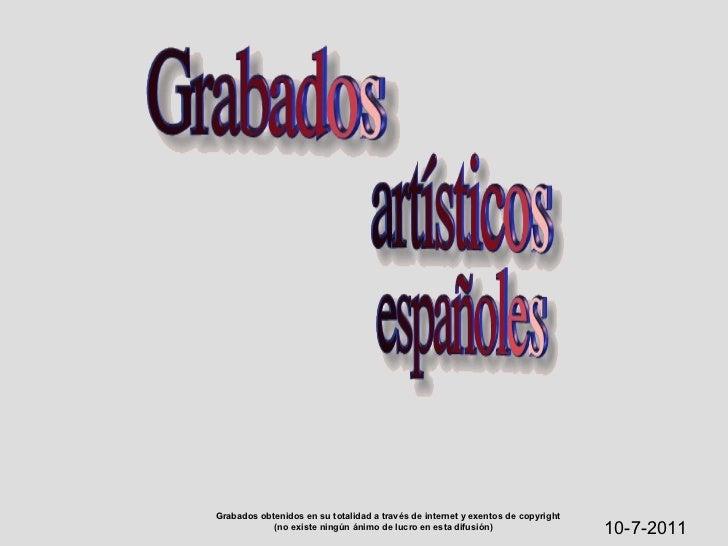 Grabados españoles,  1842-1850