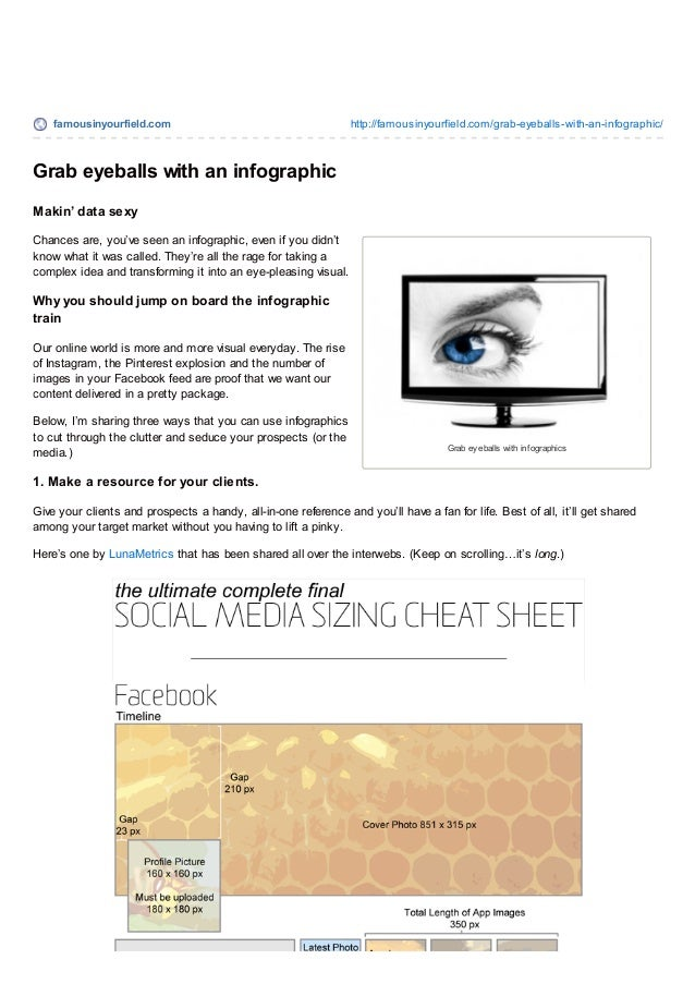 famousinyourfield.com http://famousinyourfield.com/grab-eyeballs-with-an-infographic/ Grab ey eballs with inf ographics Gr...