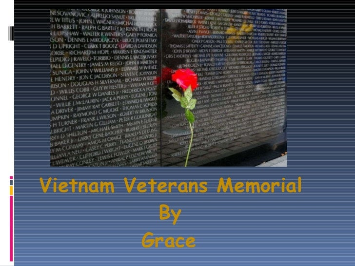 Grace   vitnam veternas memorial
