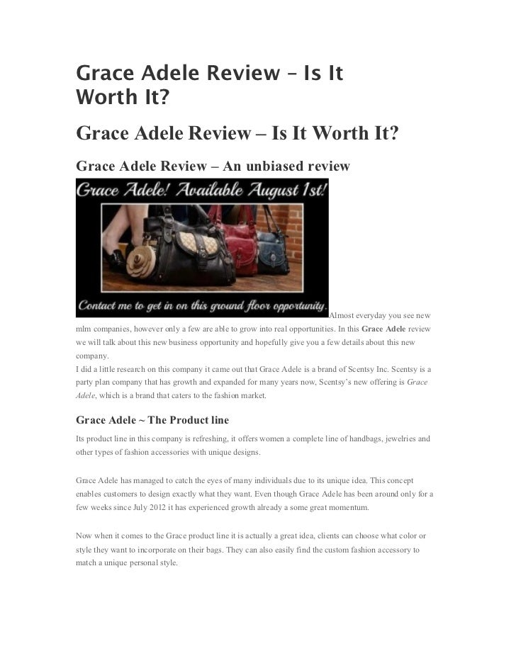 Grace Adele Review – Is ItWorth It?Grace Adele Review – Is It Worth It?Grace Adele Review – An unbiased review            ...