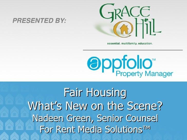 AppFolio / Grace Hill Fair Housing Webinar Featuring Nadeen Green