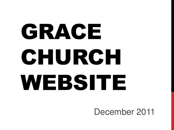 GRACECHURCHWEBSITE    December 2011