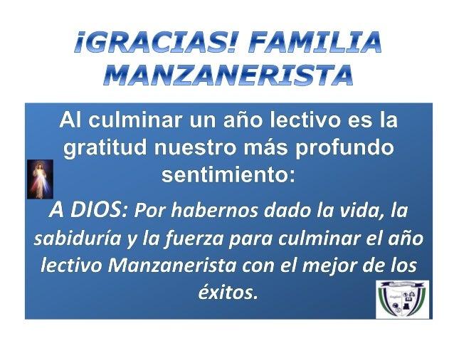 ¡Gracias! familia manzanerista 2010