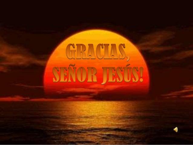 Gracias, señor jesús