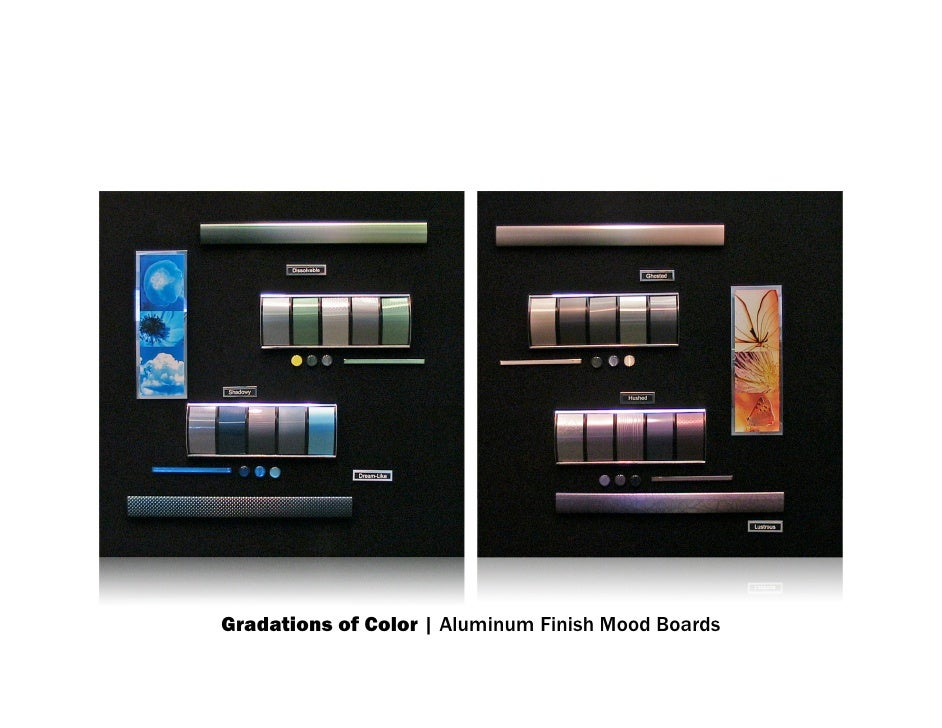 Gradations of Color | Aluminum Finish Mood Boards