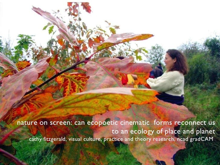 nature on screen: can ecopoetic cinematic  forms reconnect us to an ecology of place and planet cathy fitzgerald, visual c...