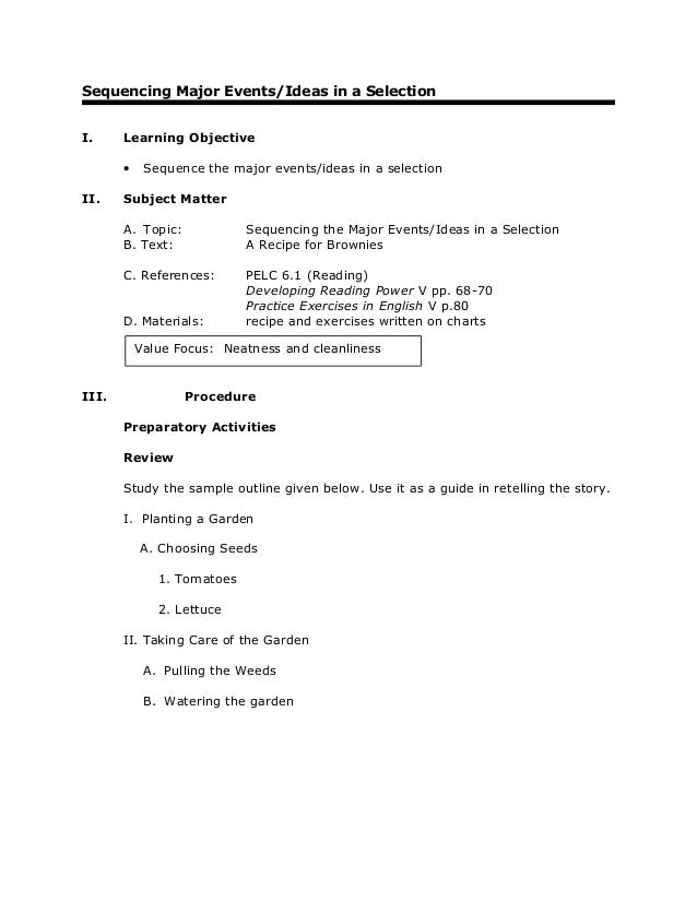 Grade 6-english-reading-major-events-ideas-in-a-selection