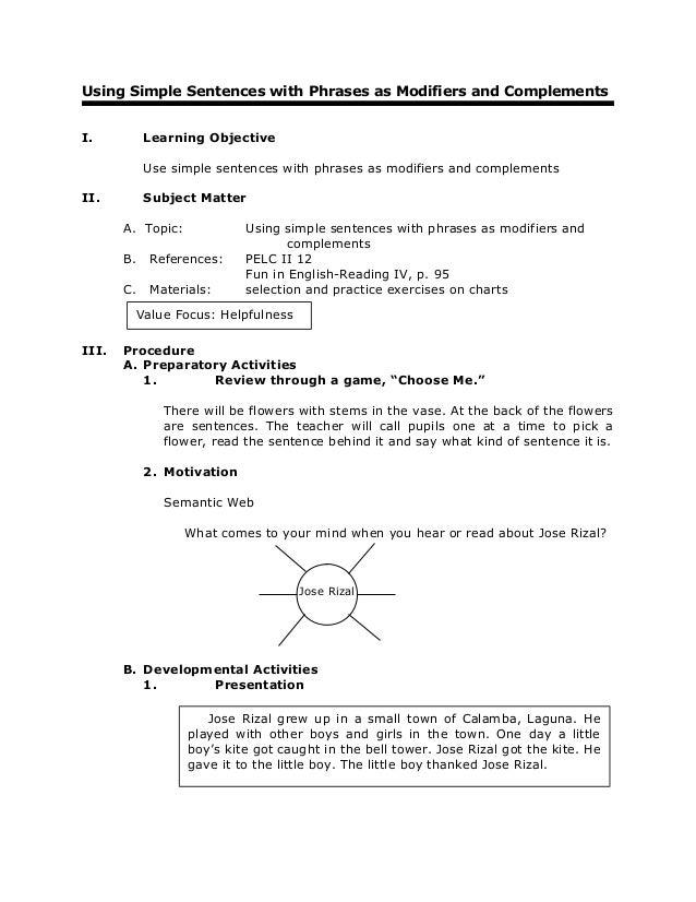 worksheets on types of sentences