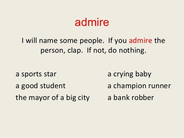 Who do you admire essay