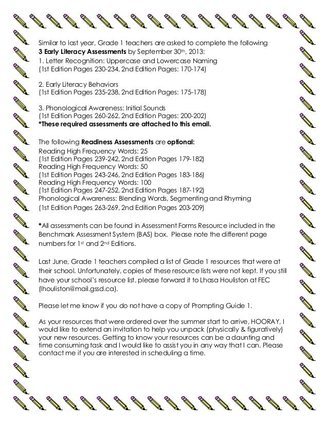 Grade 1 letter (sept 2013)