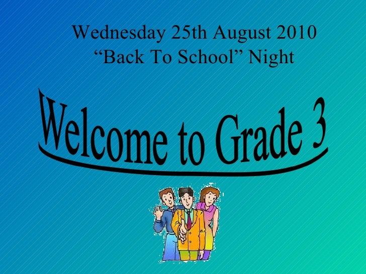 Grade 3 open house sy201011