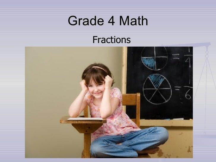 Grade 4 Math Fractions