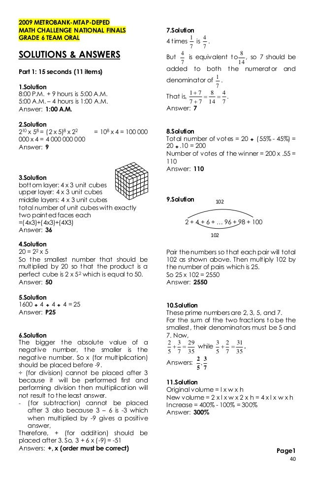 Math Quiz For Grade 7 Pdf multiplication facts and teaching on – Grade 7 Math Review Worksheets