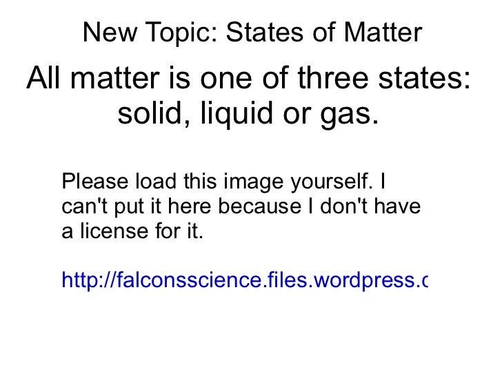 Grade 6 states of matter