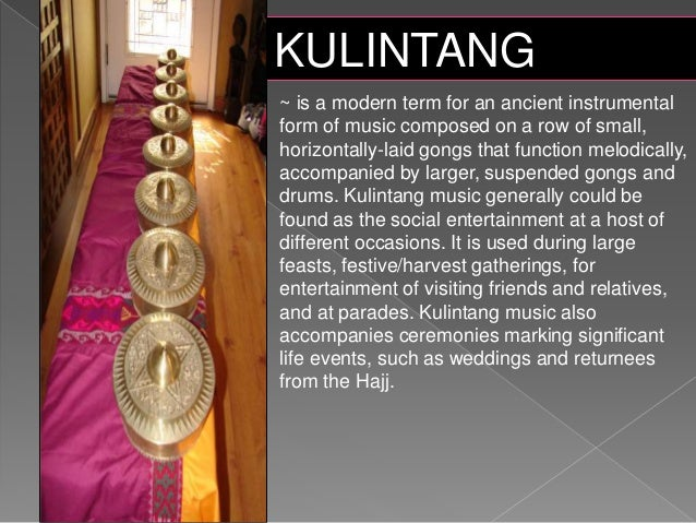 other musical instruments of mindanao and their description Musical instrument: musical instrument, any device for producing musical sound the principal types of such instruments, classified by the method a discussion of the landmark music museum in vermillion, south dakota, from the documentary america's shrine to music: national music museum.