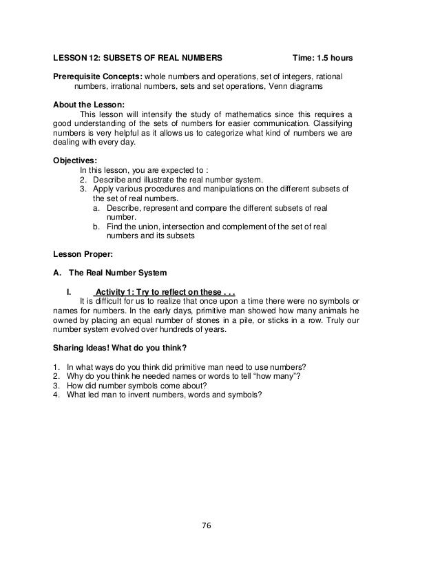 Worksheet 11401270 Math Sets and Subsets Worksheets Quiz and – Real Number System Worksheet