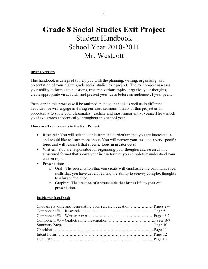 Science fair projects research paper outline