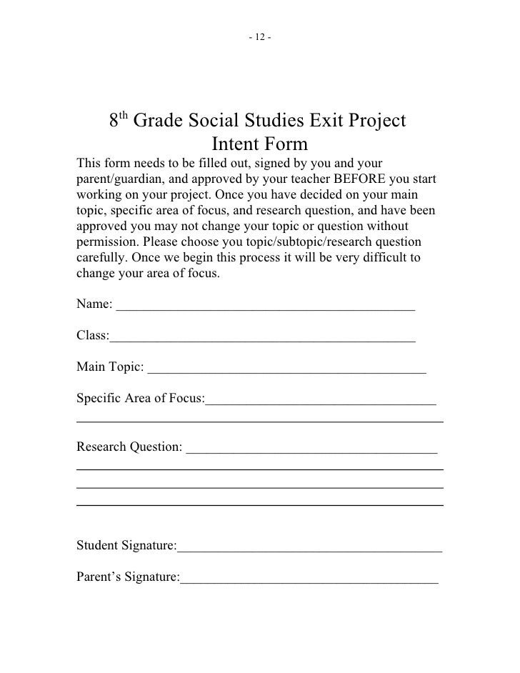 Social studies exit project help!!!!! :(?