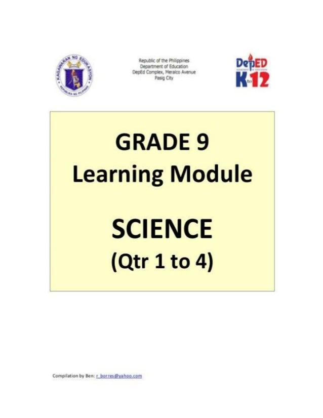 Grade 9 learner's module (science)