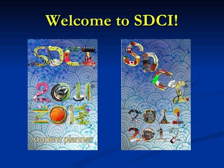 Welcome to SDCI!