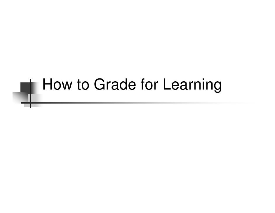 Grade For Learning Oconnor