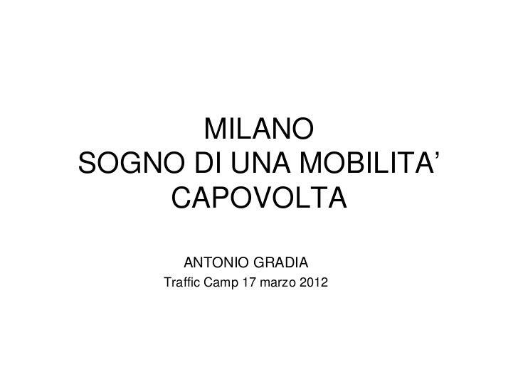 MILANOSOGNO DI UNA MOBILITA'    CAPOVOLTA        ANTONIO GRADIA     Traffic Camp 17 marzo 2012