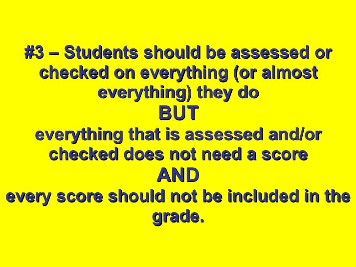 3 reasons why students shouldnt be graded on their behavior?