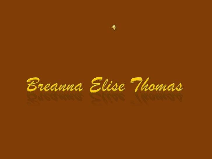Breanna Elise Thomas<br />