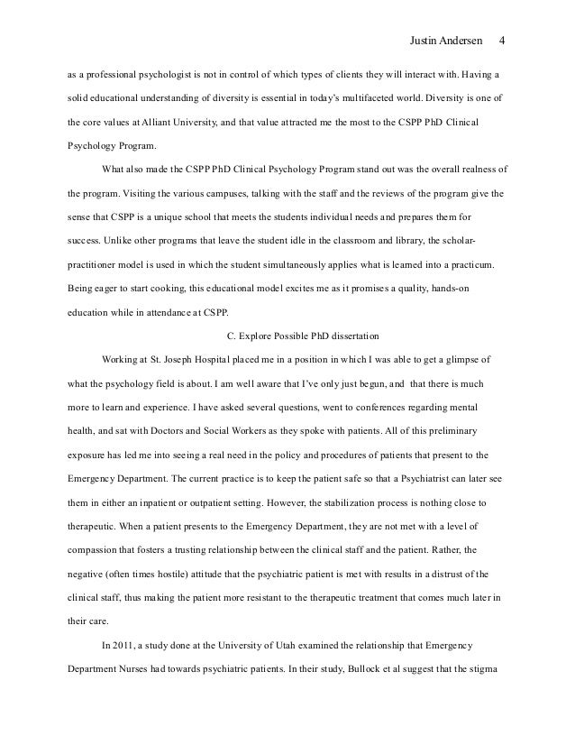 Grad School Personal Statement - Narratives - EssayEdge