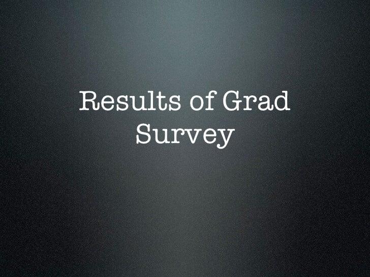 Results of Grad    Survey