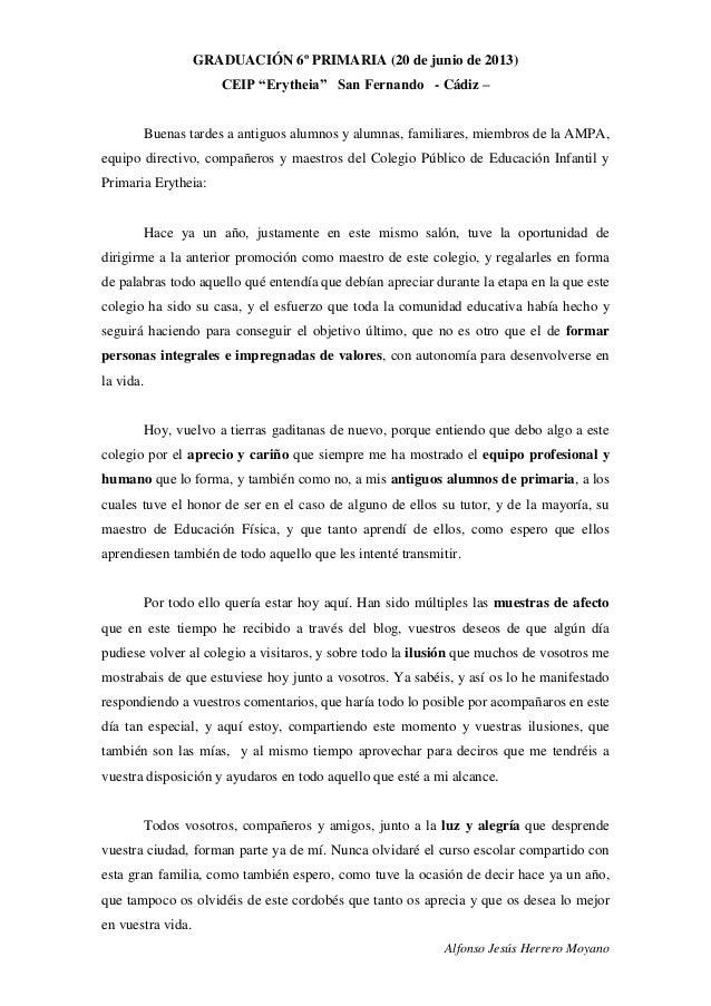 """GRADUACIÓN 6º PRIMARIA (20 de junio de 2013)CEIP """"Erytheia"""" San"""