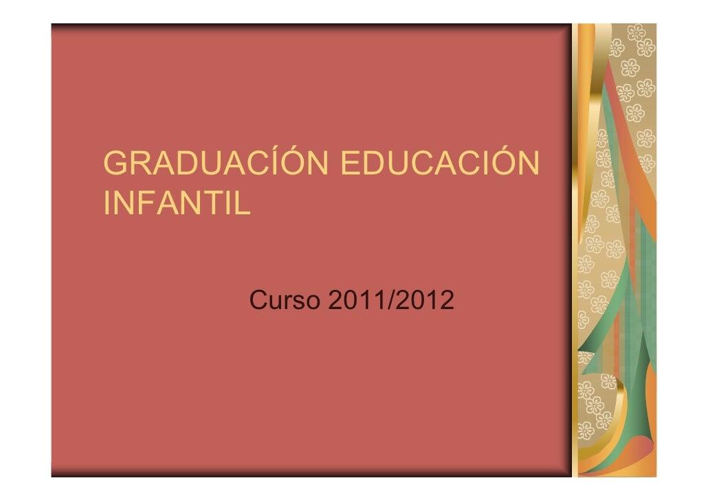 GRADUACÍÓN EDUCACIÓNINFANTIL      Curso 2011/2012
