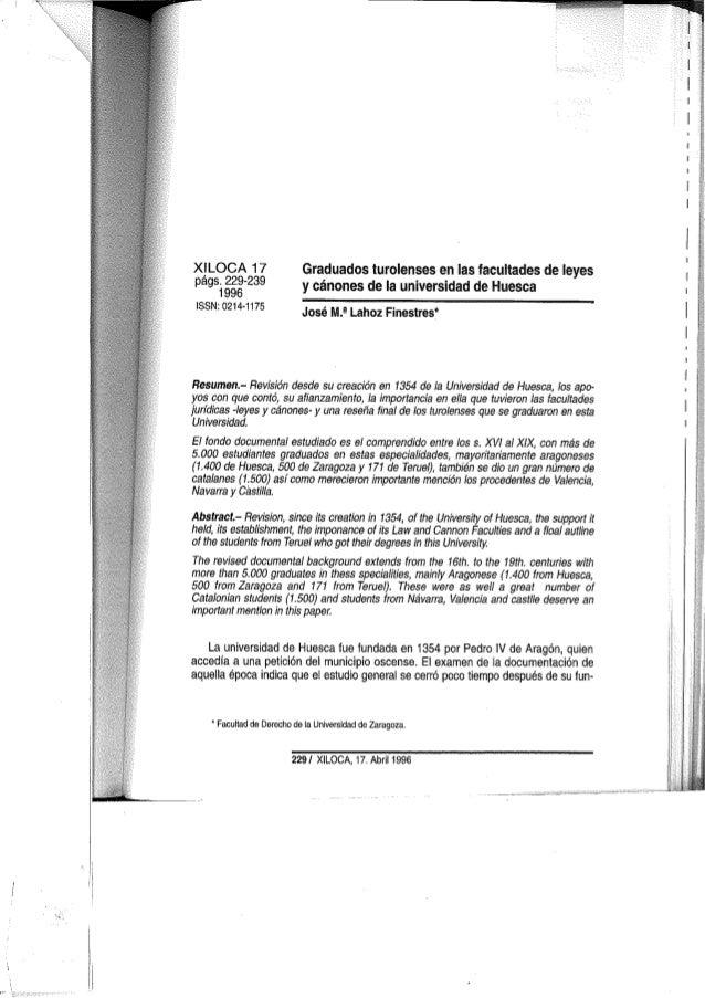 Graduados juristas turolenses en Universidad de huesca