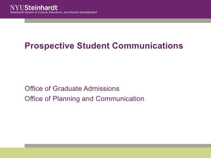 Prospective Student Communications