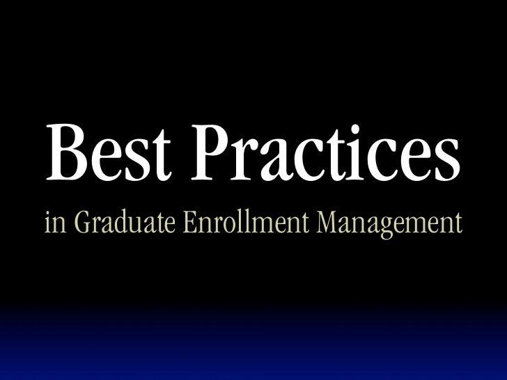 Graduate Marketing Best Practices