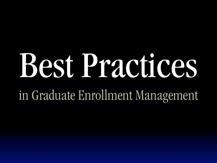 Graduate Marketing Best Practices