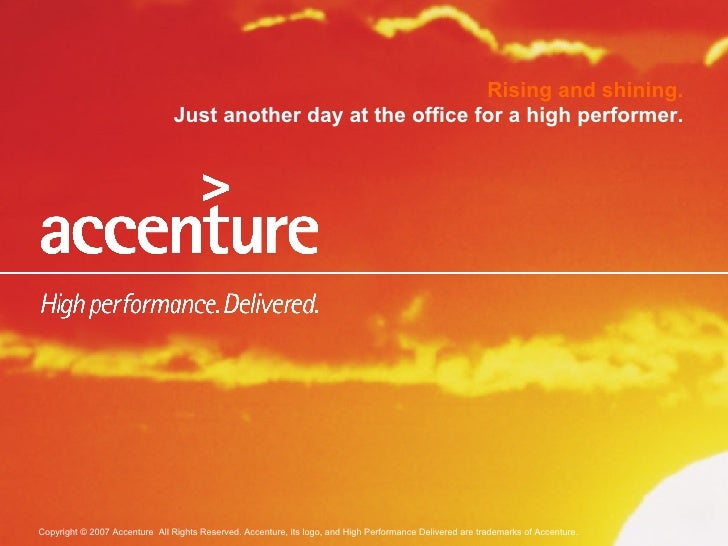 Rising and shining. Just another day at the office for a high performer.