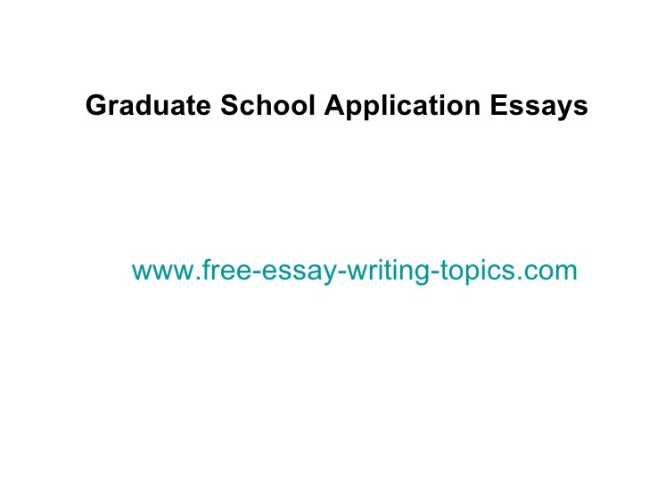 Grad school entrance essay