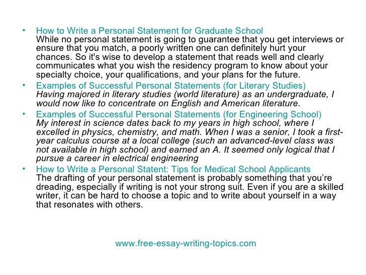 How to Write a Graduate Admissions Essay