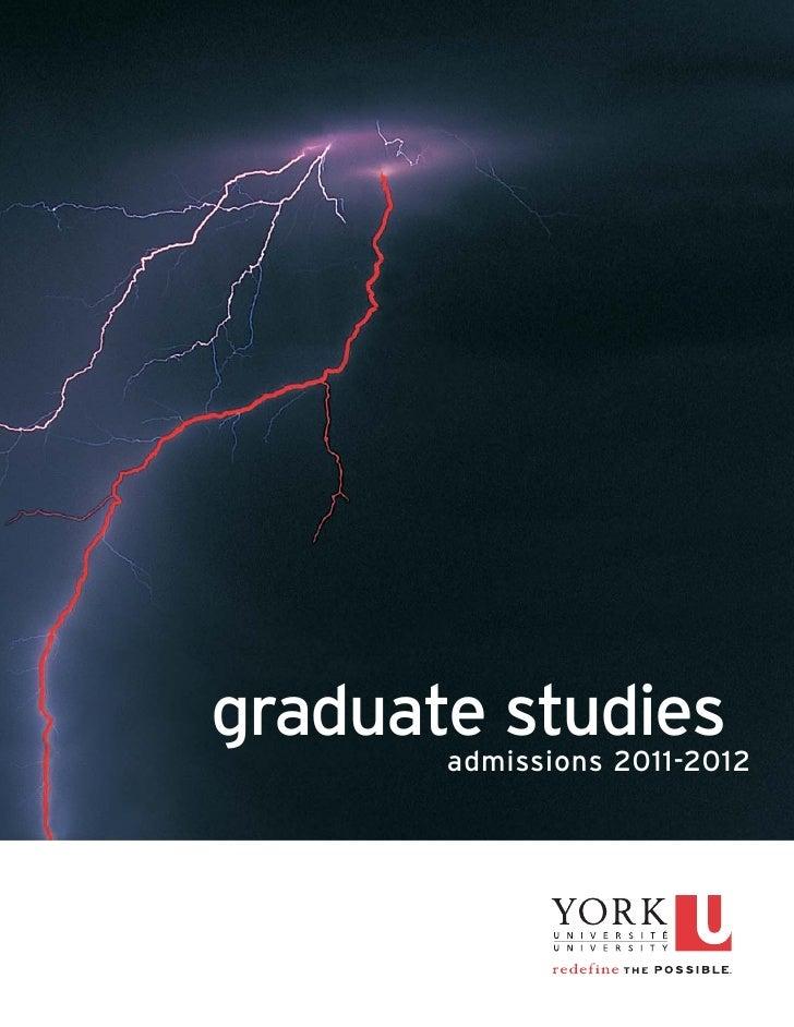 graduate studies       admissions 2011-2012
