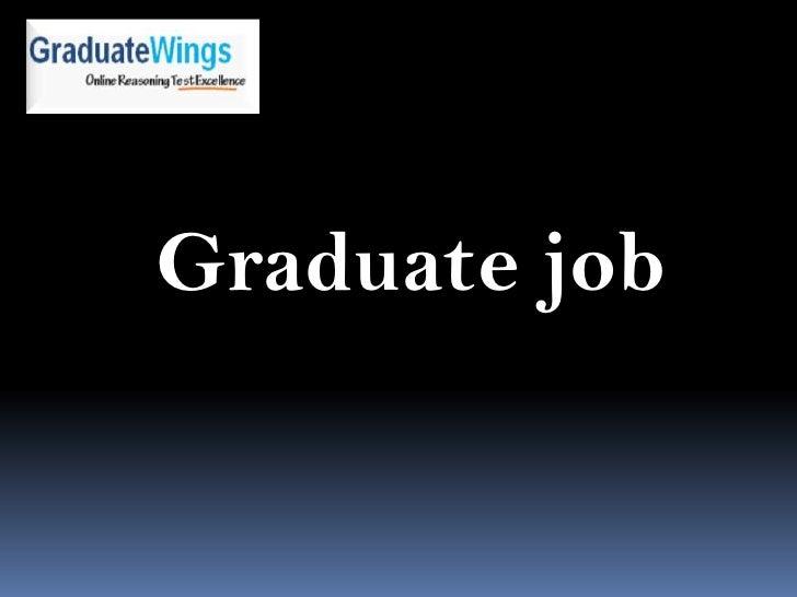 Graduate job