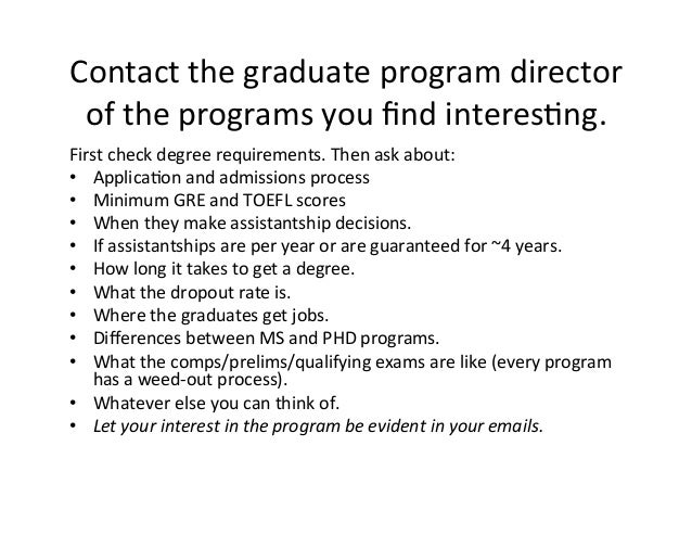 Are you supposed to contact profs at the grad schools you're applying to?