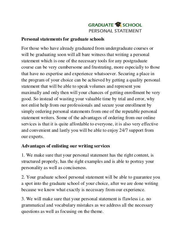 Graduate student admission essay