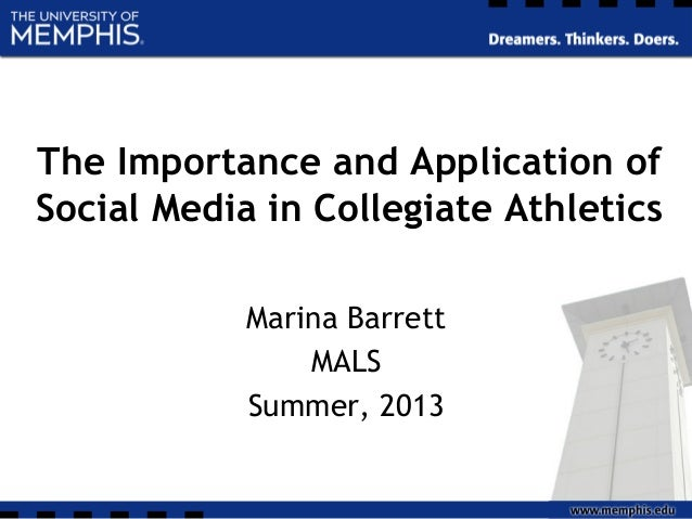 The Importance and Application of Social Media in Collegiate Athletics