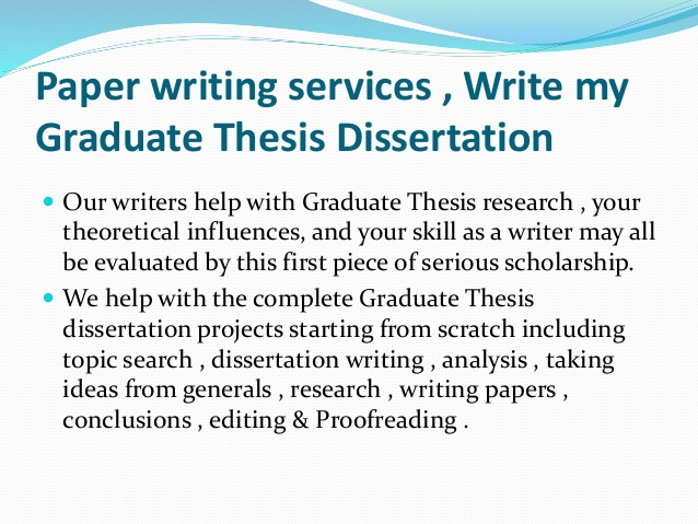 Write My Graduate Paper Format Doc