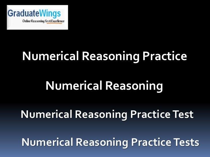 Numerical Reasoning Practice    Numerical ReasoningNumerical Reasoning Practice TestNumerical Reasoning Practice Tests