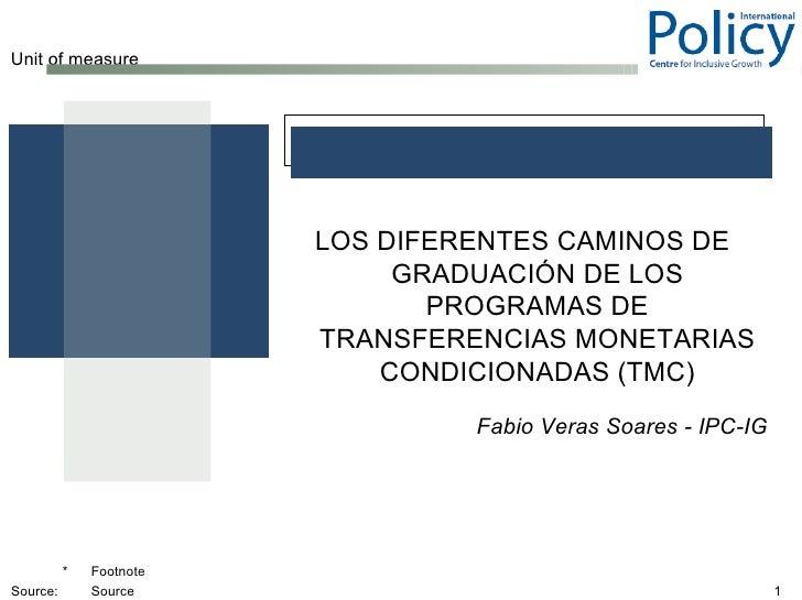 Unit of measure                         LOS DIFERENTES CAMINOS DE                              GRADUACIÓN DE LOS          ...