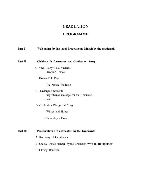 Master Of Ceremony Script For Graduation Dinner | just b.CAUSE